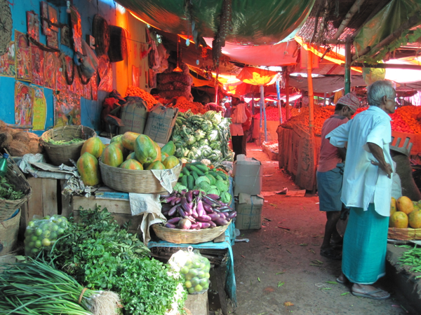 Vegetable market in Jamshedpur